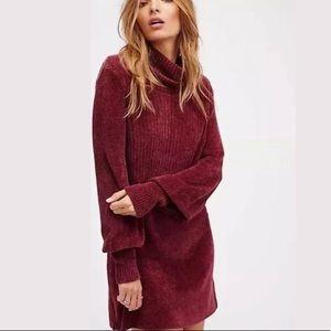 Free People New Moon Chenile Sweater Dress XS